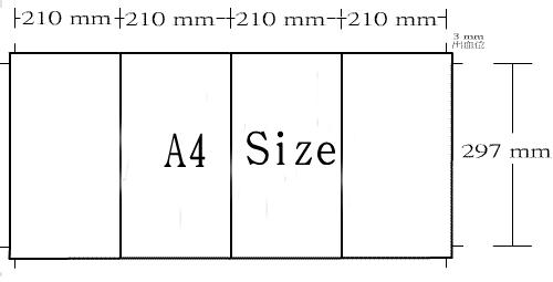"B型:840x 297mm / 33x11.7"""